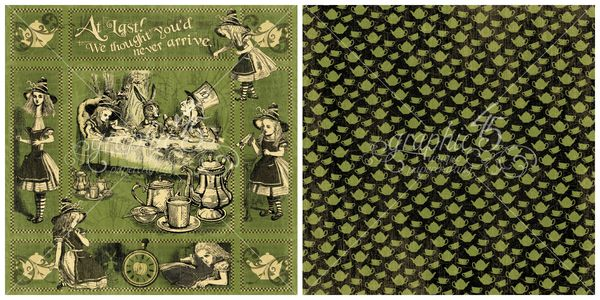 3 - Alice's Teaparty from Hallowe'en in Wonderland, our new Deluxe Collector's Edition #graphic45
