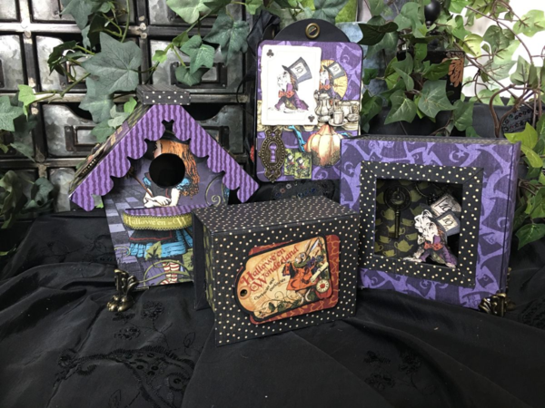 Hallowe'en in Wonderland projects from Diane's workshop. Look for this collection in stores in June! #graphic45