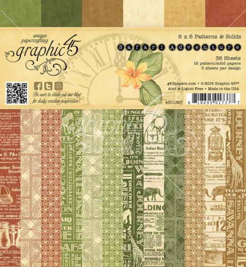 Safari Adventure 6x6 Patterns & Solids #graphic45