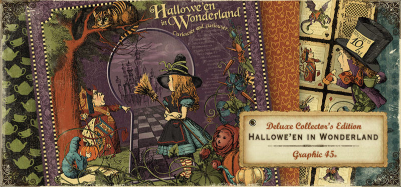 Our newest Deluxe Collector's Edition, Hallowe'en in Wonderland #graphic45 #sneakpeeks