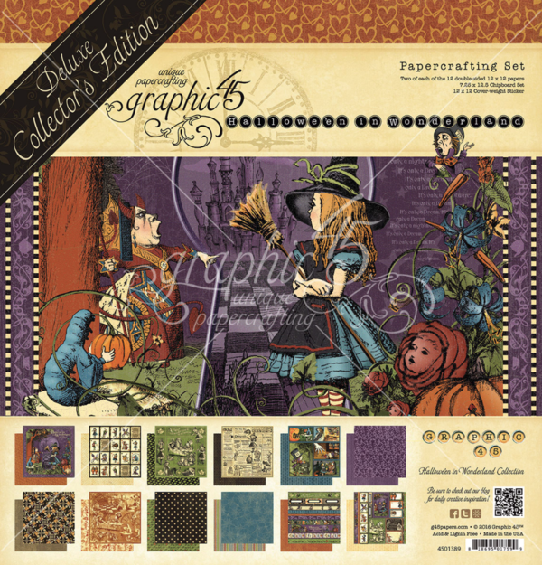 Hallowe'en in Wonderland Deluxe Collector's Edition Pack #graphic45