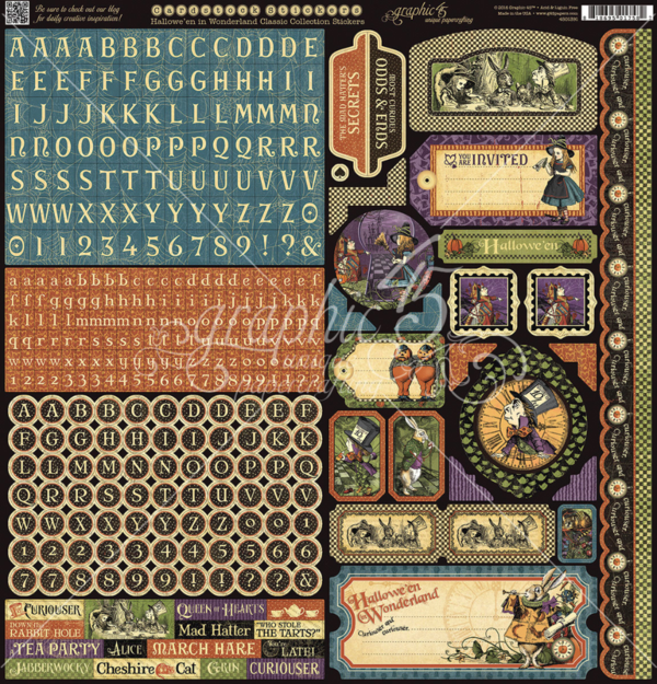 Hallowe'en in Wonderland cardstock stickers #graphic45