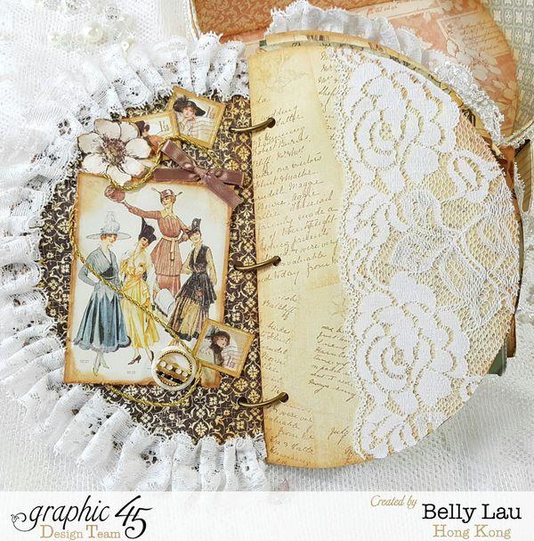 Ladies Dairy Hat Box Handbag Mini Album - Graphic 45 - Audition 2016 - Ladies Dairy - Belly Lau - Papercraft Buffet - Photo 10