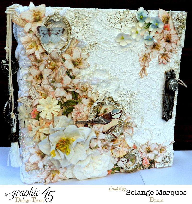 Mixed Media Album by Solange Marques using Graphic 45 Gilded Lily and Botanical Tea collections- 01