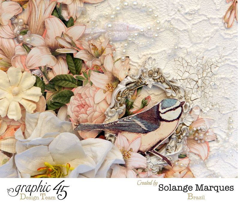 Mixed Media Album by Solange Marques using Graphic 45 Gilded Lily and Botanical Tea collections- 03