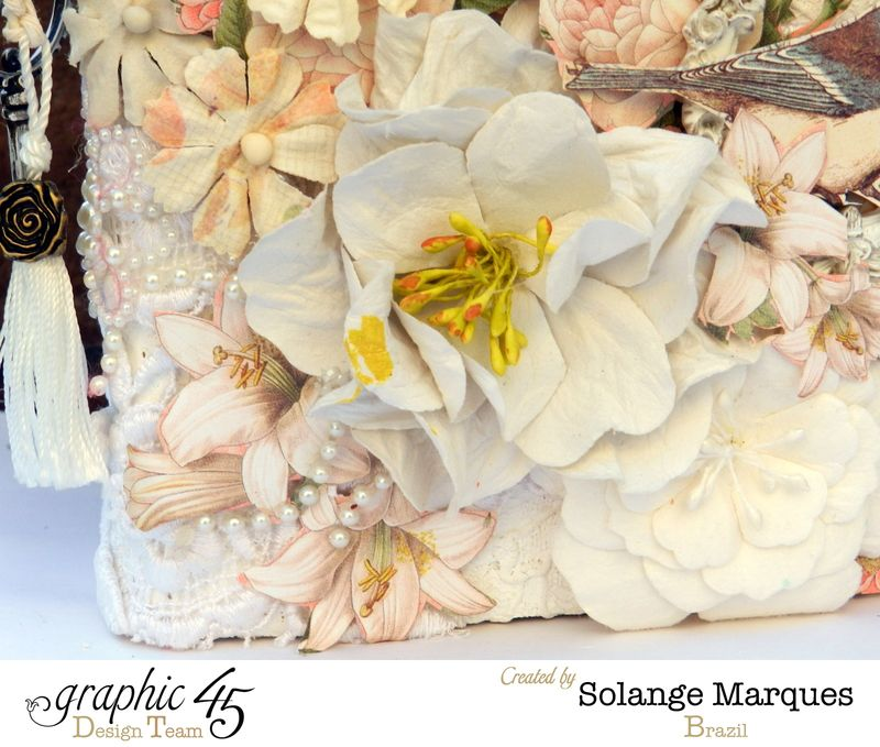 Mixed Media Album by Solange Marques using Graphic 45 Gilded Lily and Botanical Tea collections- 04