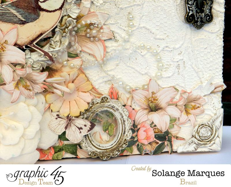 Mixed Media Album by Solange Marques using Graphic 45 Gilded Lily and Botanical Tea collections- 05