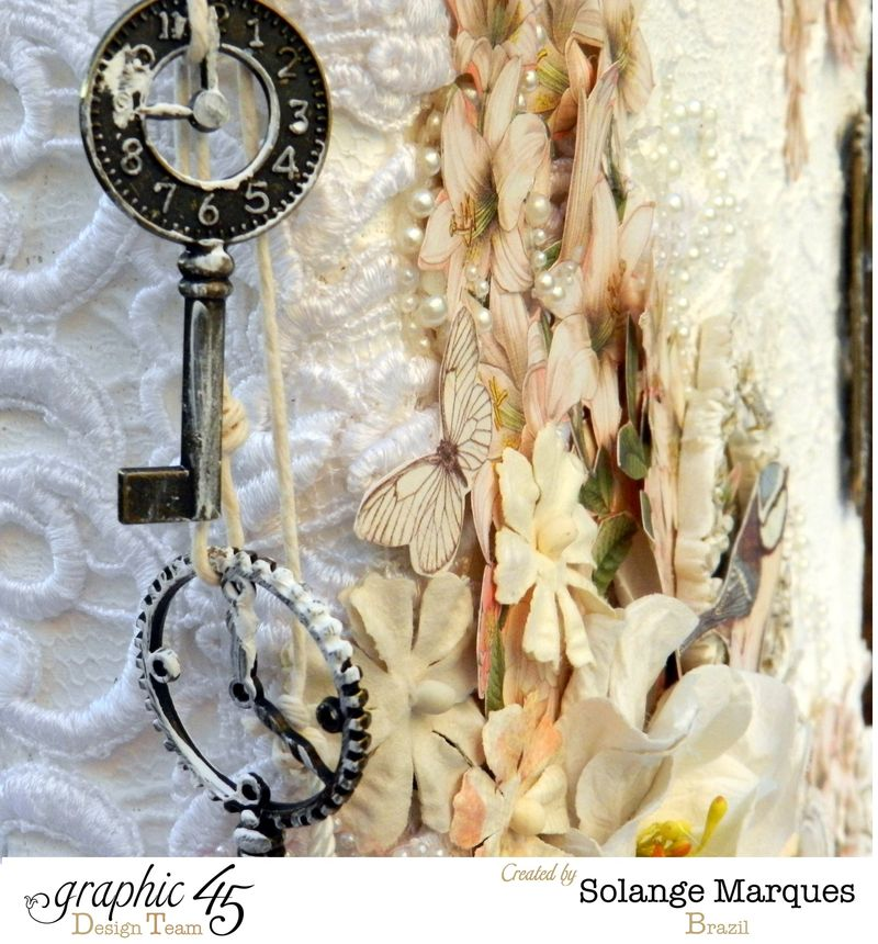 Mixed Media Album by Solange Marques using Graphic 45 Gilded Lily and Botanical Tea collections- 10