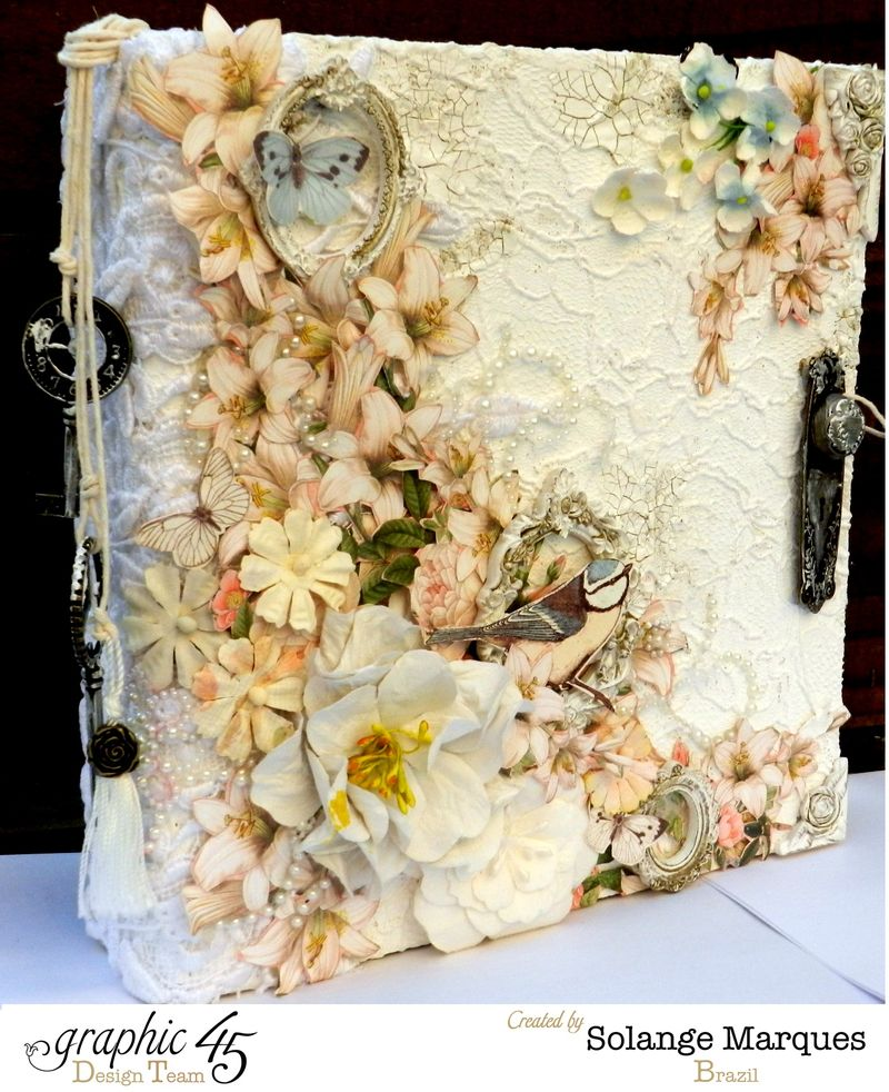 Mixed Media Album by Solange Marques using Graphic 45 Gilded Lily and Botanical Tea collections- 09
