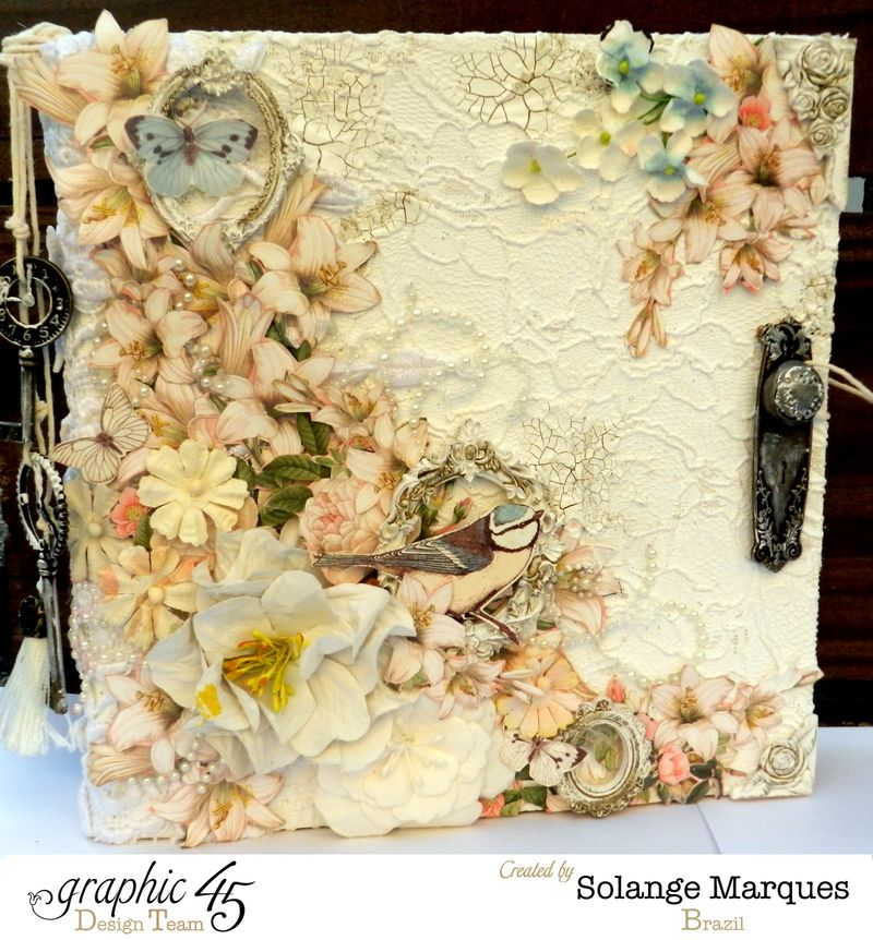 Mixed Media Album by Solange Marques using Graphic 45 Gilded Lily and Botanical Tea collections- 11