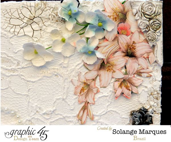 Mixed Media Album by Solange Marques using Graphic 45 Gilded Lily and Botanical Tea collections- 02