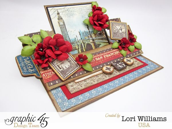 Graphic 45 City Scapes designed by Lori Williams Easel swing card 2