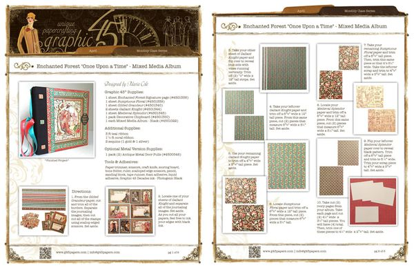 Try this Enchanted Forest Mixed Media Album with a free project sheet from Graphic 45