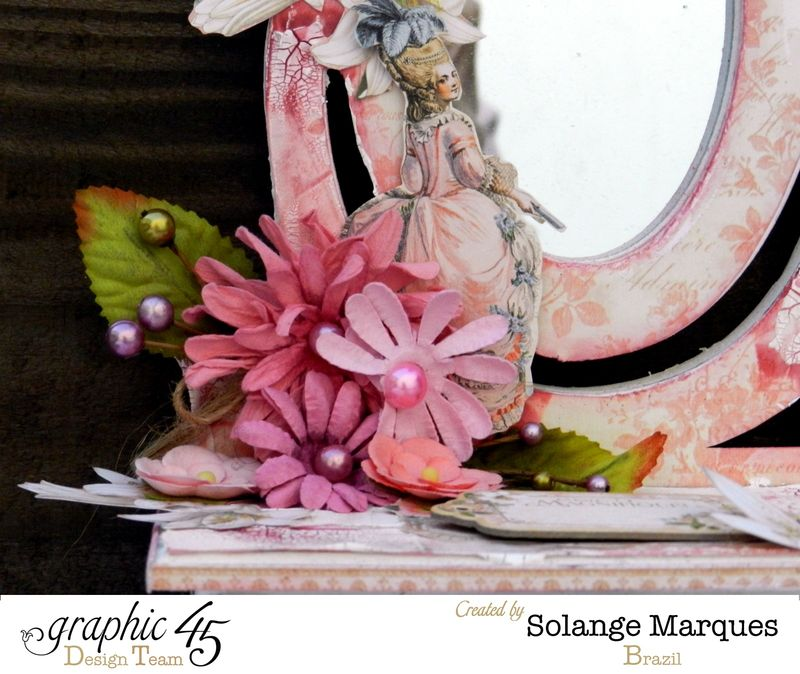 Mini dressing table by Solange Marques with Graphic 45 Gilded Lily collection- 04