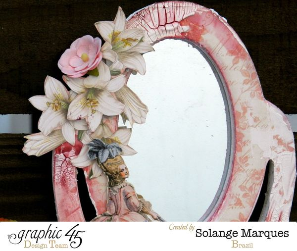 Mini dressing table by Solange Marques with Graphic 45 Gilded Lily collection- 01