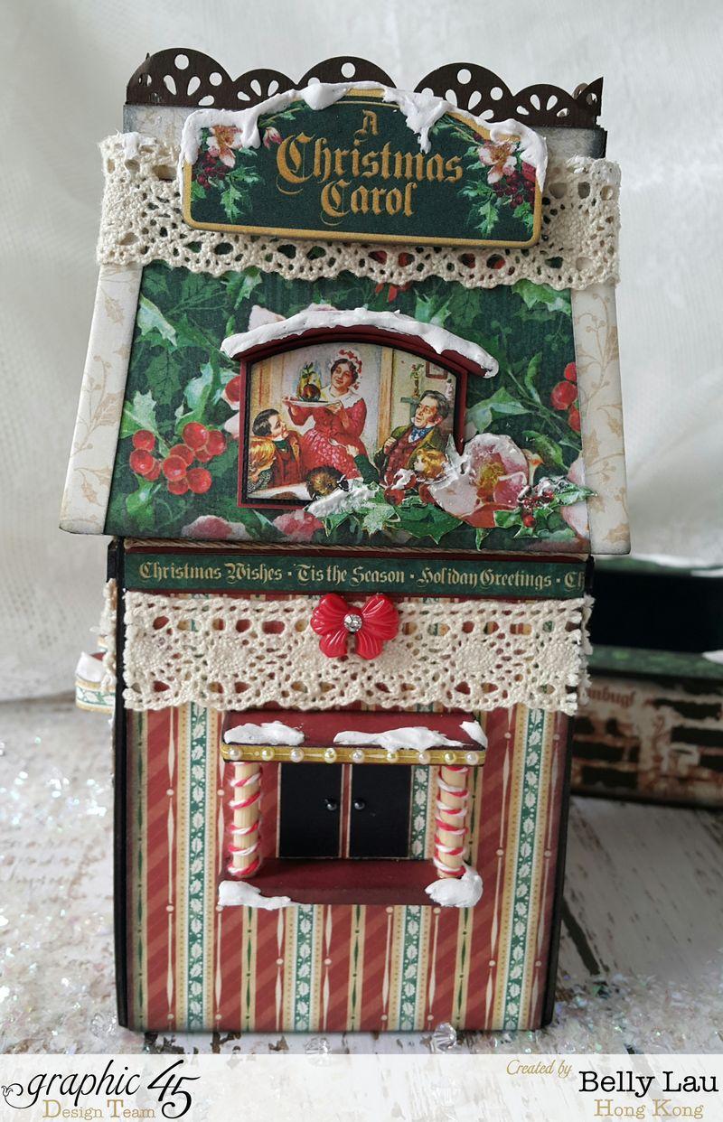 Christmas Village Mini Album Set - Graphic 45 - Christmas Carol - Belly - 10