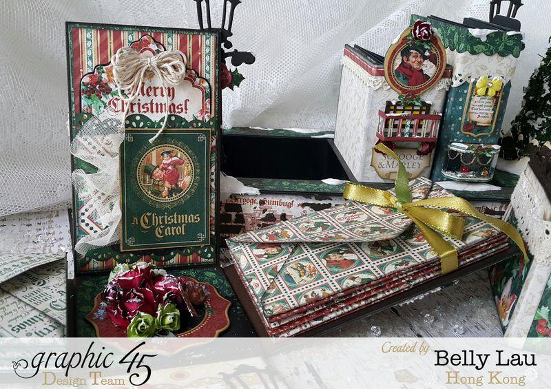 Christmas Village Mini Album Set - Graphic 45 - Christmas Carol - Belly - 11