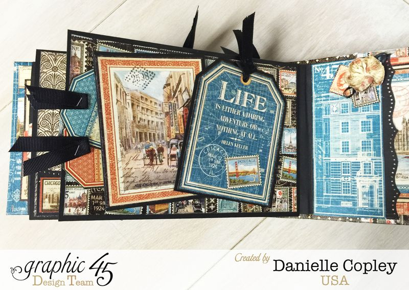 Cityscaped Mini Album, Cityscapes, Danielle Copley, Graphic 45, photo 5