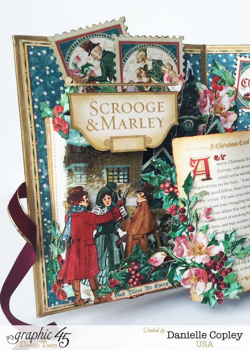 Christmas PopUp Shadow Box, Christmas Carol, by Danielle Copley, Product by Graphic 45, Photo 4
