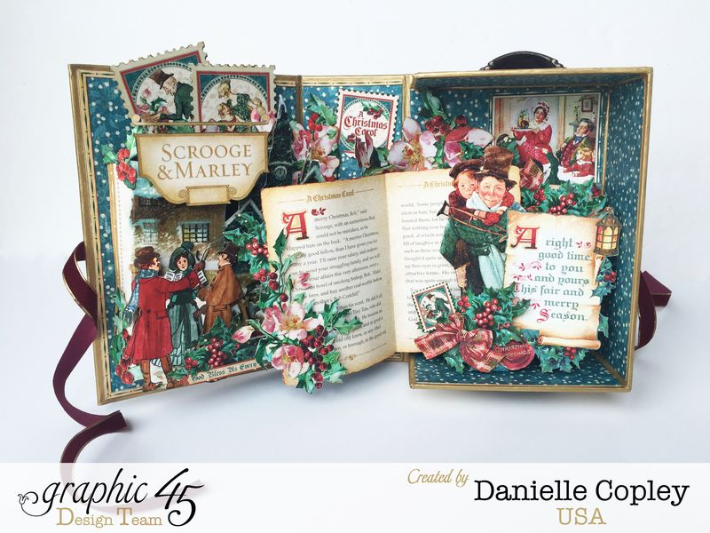 Christmas PopUp Shadow Box, Christmas Carol, by Danielle Copley, Product by Graphic 45, Photo 1