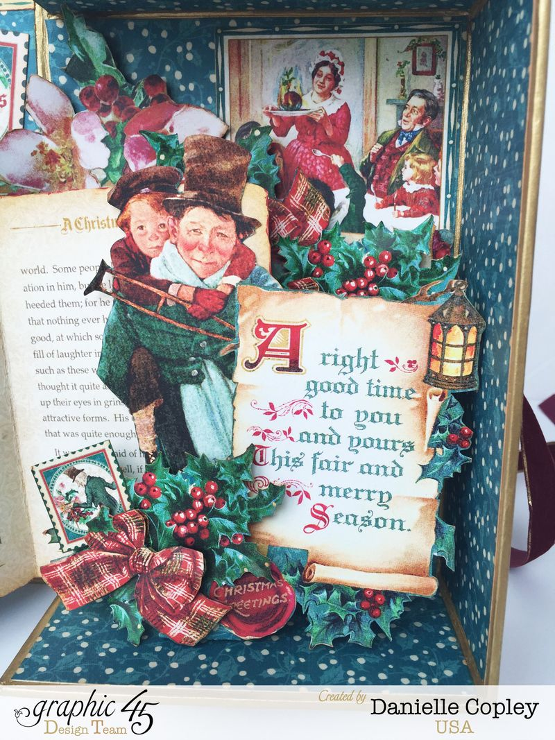 Christmas PopUp Shadow Box, Christmas Carol, by Danielle Copley, Product by Graphic 45, Photo 3