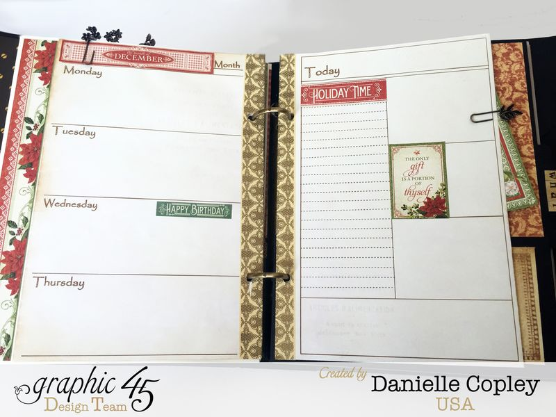 Planner Album, Steampunk Debutante, by Danielle Copley, product by Graphic 45, photo 9