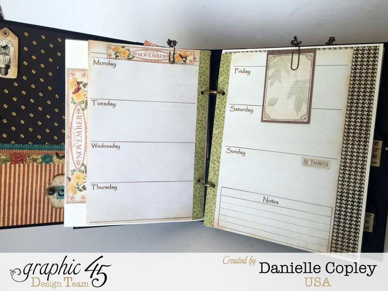 Planner Album, Steampunk Debutante, by Danielle Copley, product by Graphic 45, photo 5
