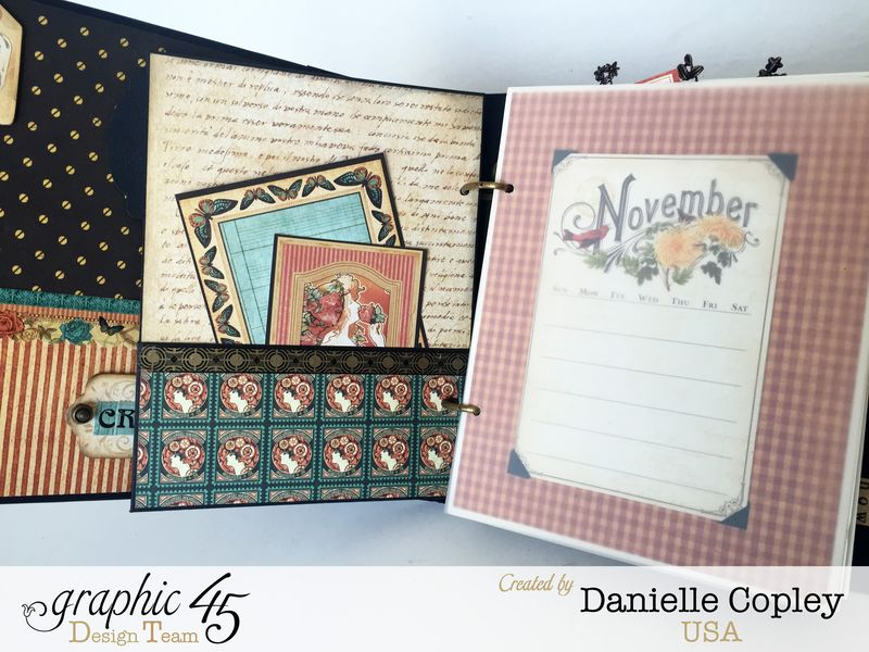 Planner Album, Steampunk Debutante, by Danielle Copley, product by Graphic 45, photo 3