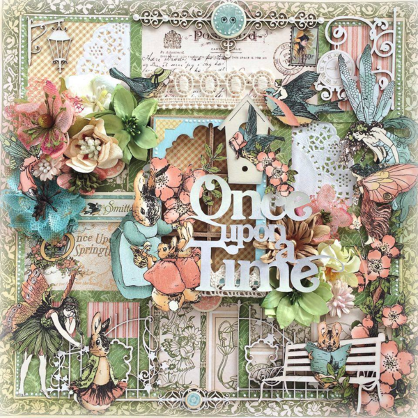Once Upon a Springtime layout by Aneta Matuszewska #graphic45