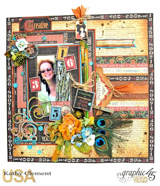 Creativity Takes Courage Layout Typography Tutorial by Kathy Clement Product by Graphic 45 Photo 1