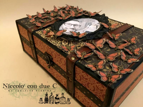 My vintage box, Botanicabella, Tutorial by Nico Scrap, Product by Graphic 45, Photo 1