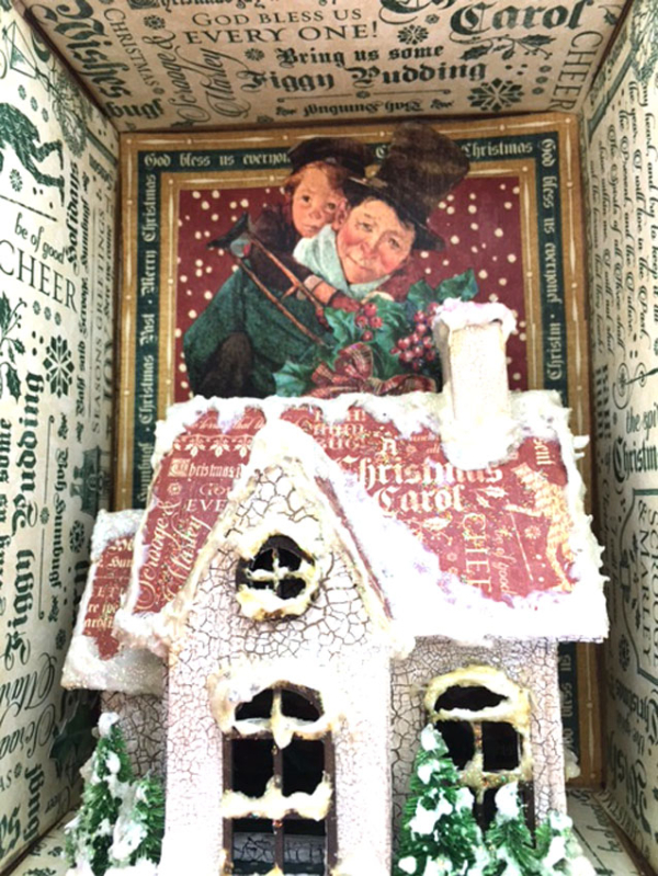 Book Box and Luminary House, Christmas-Carol,-by-Sandy-Trefger,-Product-by-Graphic-45,-Photo-5