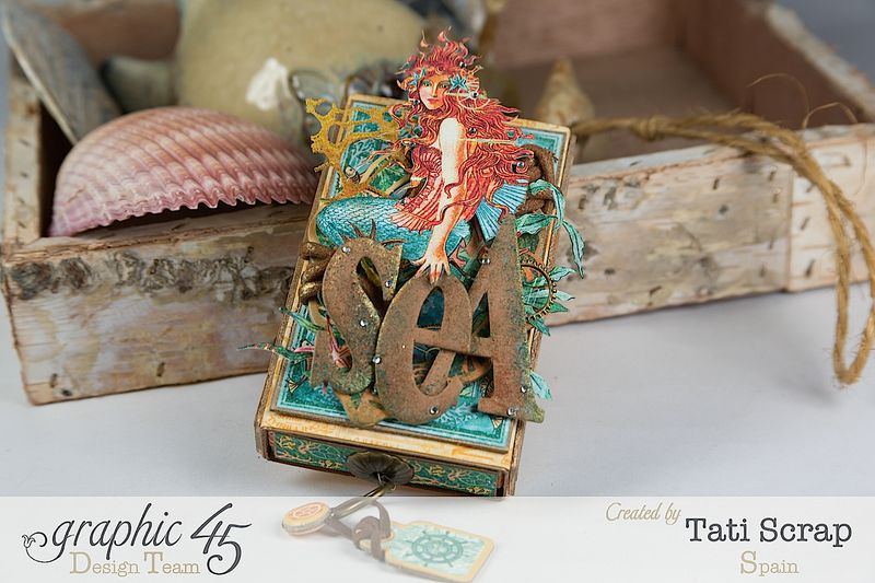 Tati,Voyage Beneath the Sea, Mini Album in a Matchbox , Product by Graphic 45, Photo 1