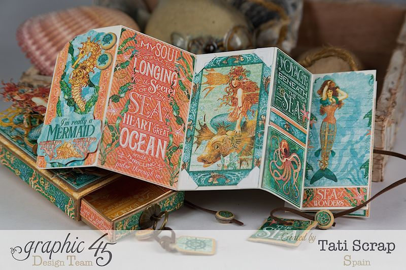 Tati,Voyage Beneath the Sea, Mini Album in a Matchbox , Product by Graphic 45, Photo 11