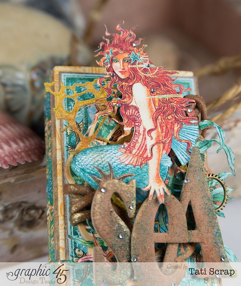 Tati,Voyage Beneath the Sea, Mini Album in a Matchbox , Product by Graphic 45, Photo 3
