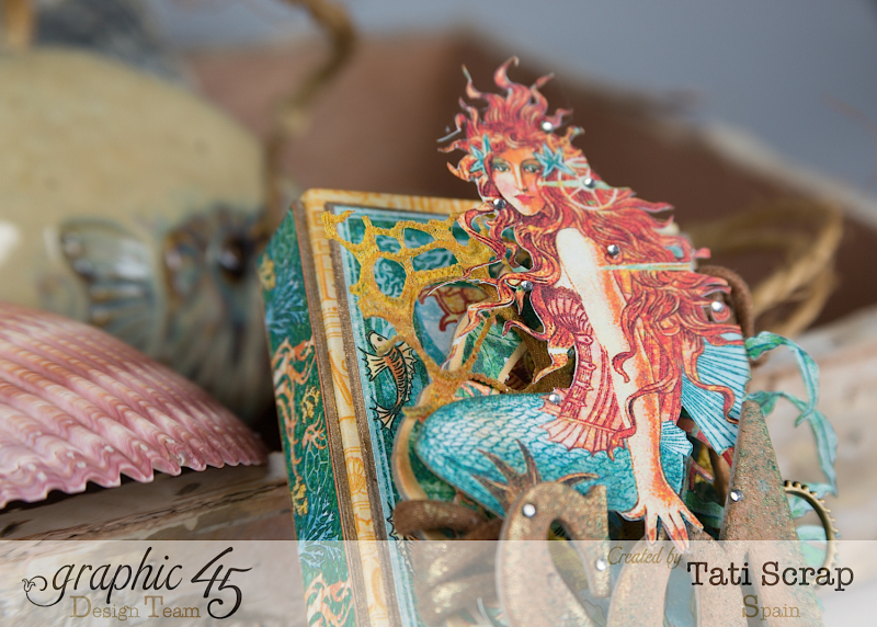 Tati,Voyage Beneath the Sea, Mini Album in a Matchbox , Product by Graphic 45, Photo 5