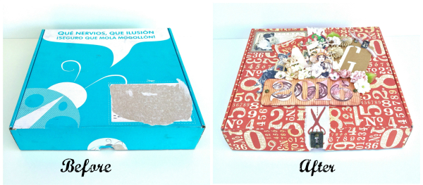 Before and After with Marina #upcycling #graphic45