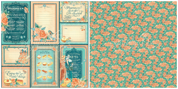 12- Life is Sweet, a page from Cafe Parisian, a new collection from Graphic 45
