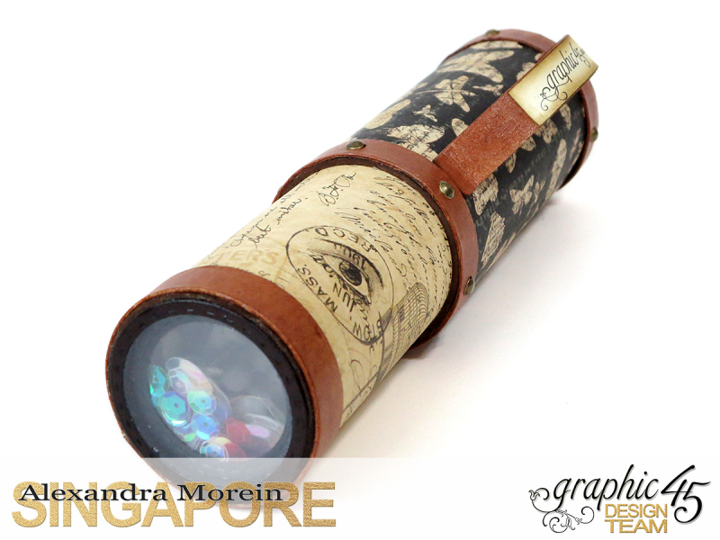 DIY Craft Paper Roll, project by Alexandra Morein, Product by Graphic 45, Photo 13