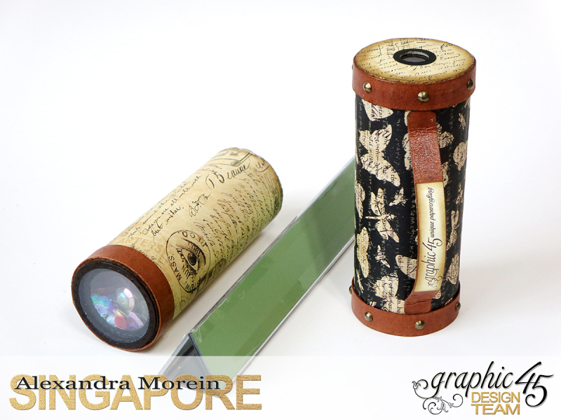 DIY Craft Paper Roll, project by Alexandra Morein, Product by Graphic 45, Photo 14