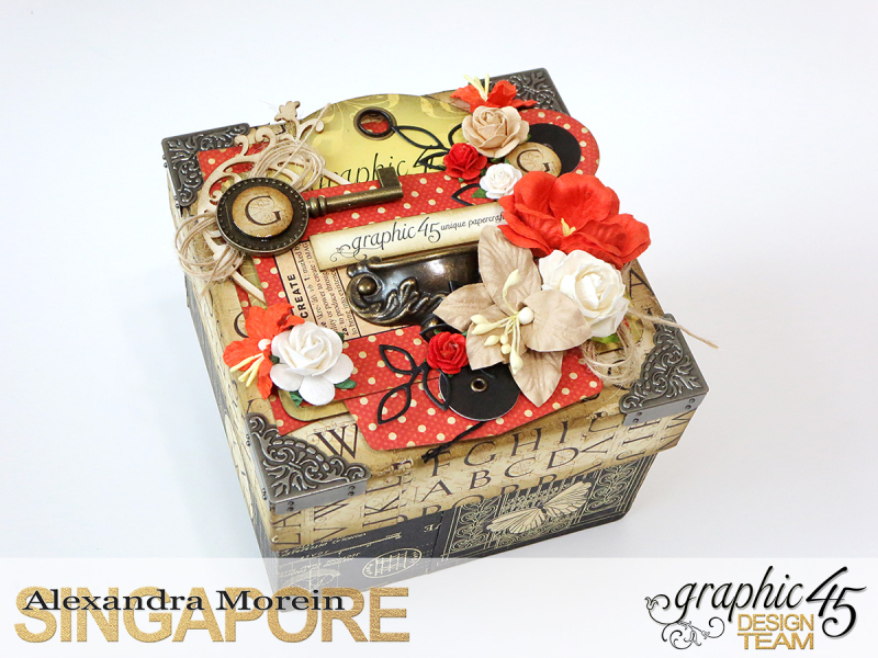 DIY Craft Paper Roll, project by Alexandra Morein, Product by Graphic 45, Photo 2