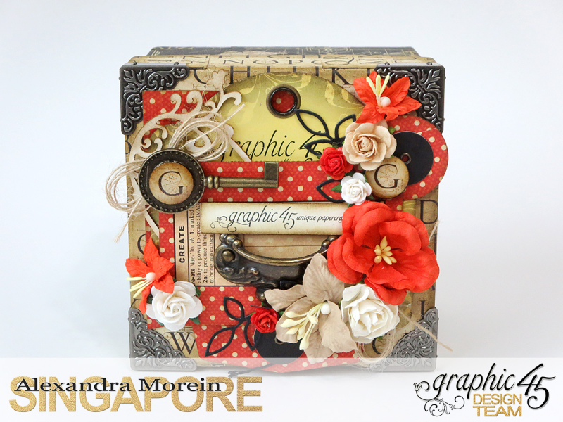 DIY Craft Paper Roll, project by Alexandra Morein, Product by Graphic 45, Photo 4