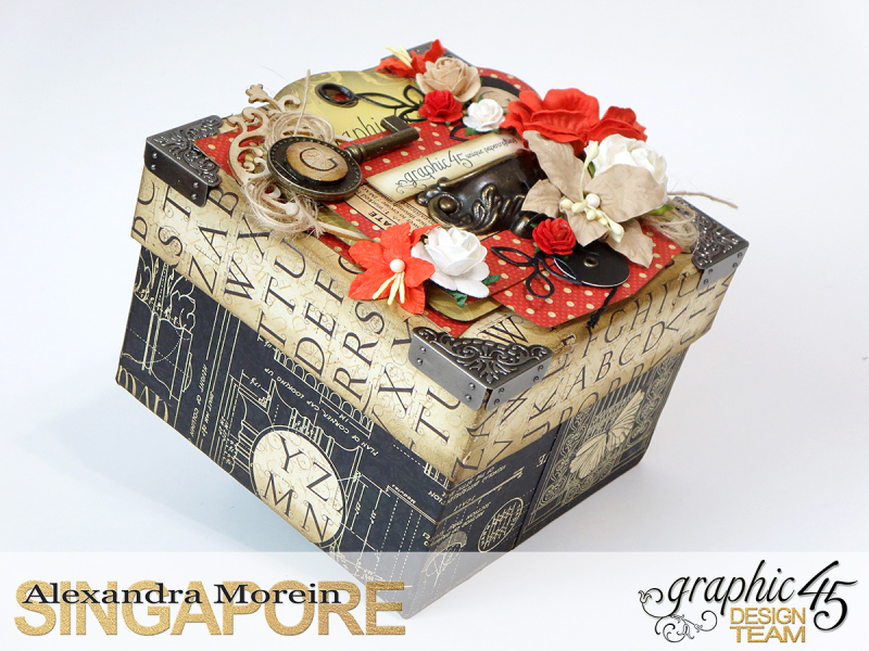 DIY Craft Paper Roll, project by Alexandra Morein, Product by Graphic 45, Photo 3