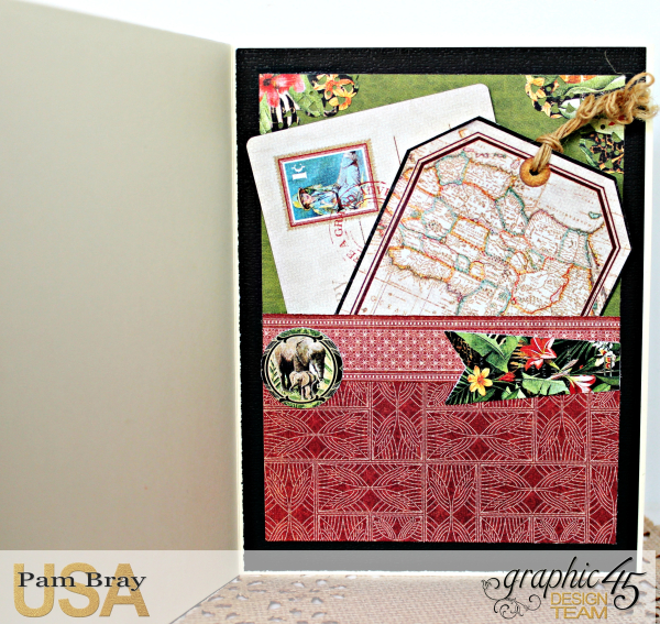 Journey Card, Safari Adventure Collection by Pam Bray, Product by Graphic 45, Photo 6_9921