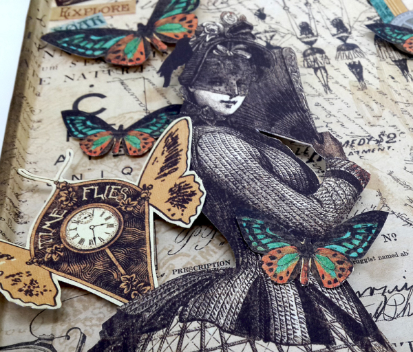 Upcycled Baking Tray, Steampunk Debutante, by Einat Kessler, Product by Graphic 45 photo 2