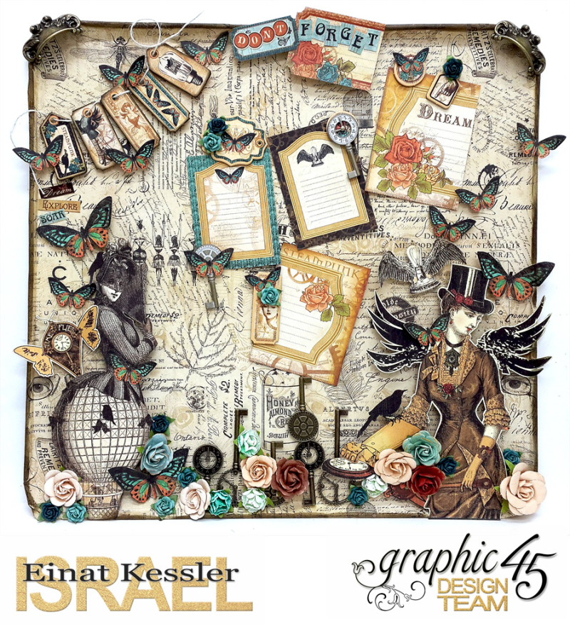 Upcycled Baking Tray, Steampunk Debutante, by Einat Kessler, Product by Graphic 45 photo 16