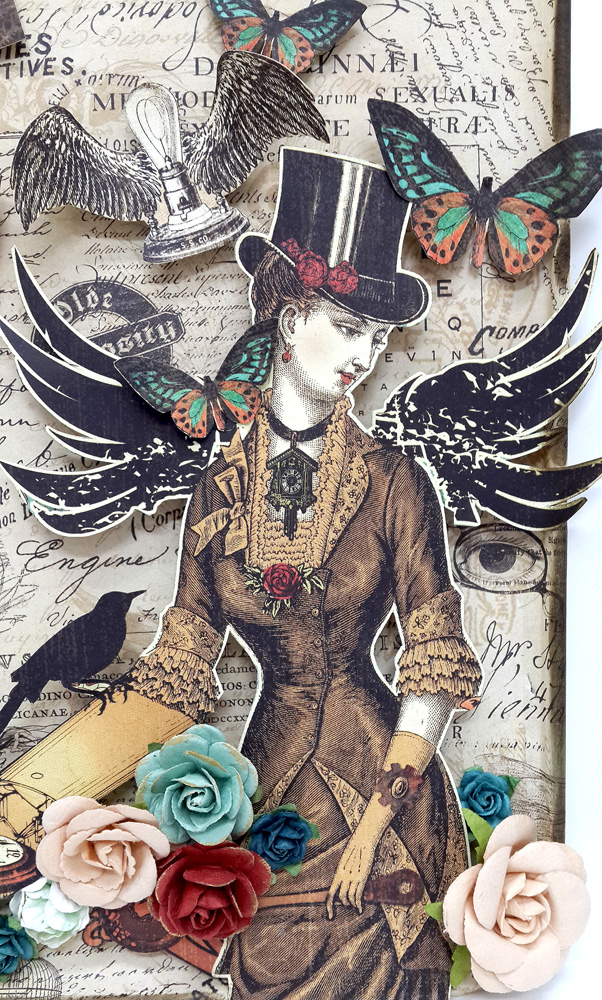 Upcycled Baking Tray, Steampunk Debutante, by Einat Kessler, Product by Graphic 45 photo 15
