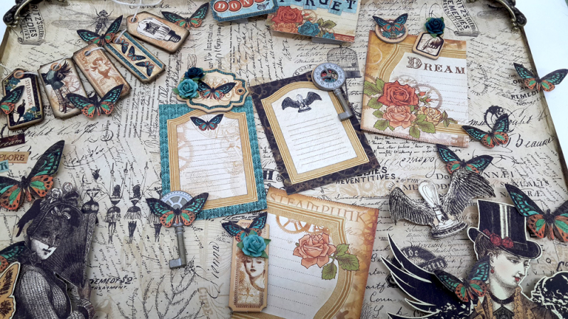 Upcycled Baking Tray, Steampunk Debutante, by Einat Kessler, Product by Graphic 45 photo 1