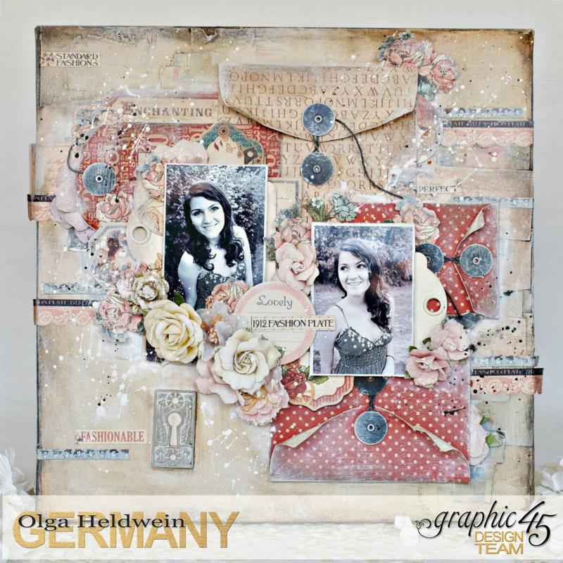 July Assigment girly Layout Ladies Diary Olga Heldwein