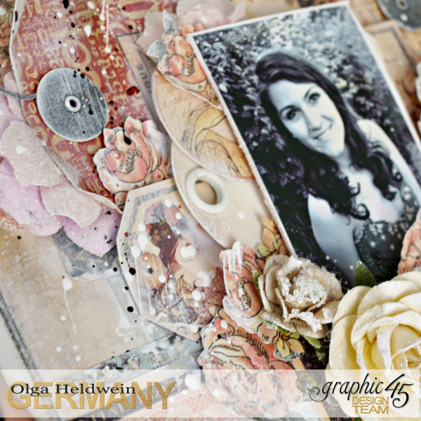 July Assigment girly Layout Ladies Diary Olga Heldwein